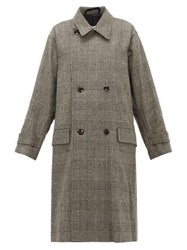 Chimala Double Breasted Wool Blend Overcoat Dark Grey