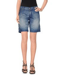 Timezone Denim Denim Bermudas Women Blue