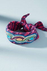 Anthropologie Sailor Bandana Bracelet Purple Motif