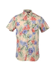 Franklin And Marshall Short Sleeve Shirts Beige