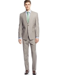 Andrew Marc New York Marc New York By Andrew Marc Tan Sharkskin Suit