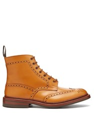 Tricker's Stow Leather Brogue Boots Tan