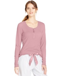 Alfani Long Sleeve Thermal Top Pink