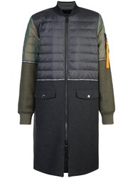 Mostly Heard Rarely Seen Hybrid Fitted Coat Cotton Nylon Polyester L Green
