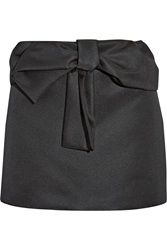 N 21 Bow Embellished Taffeta Mini Skirt