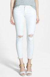 Mother 'Looker' Frayed Ankle Crop Jeans Little Miss Innocent