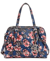 Guess Huntley Small Cali Satchel Multi Floral