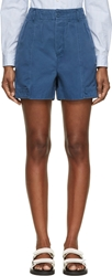 Marc By Marc Jacobs Blue Cotton Twill Shorts
