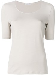Le Tricot Perugia Classic Short Sleeve T Shirt Nude And Neutrals