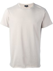 A.P.C. Plain T Shirt Nude And Neutrals