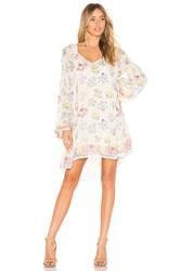 Spell And The Gypsy Collective Posy Long Sleeve Mini Dress Cream