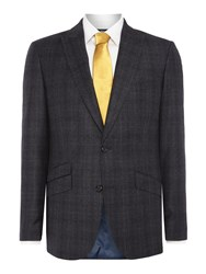 Simon Carter Prince Of Wales Flannel Jacket Grey