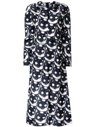 Nina Ricci 'Cat' Print Dress Black