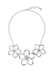 Ted Baker Bluum Silver Crystal Blossom Necklace Silver