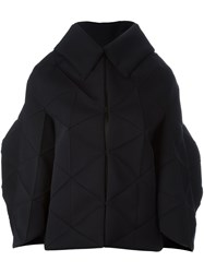 Comme Des Garcons Junya Watanabe Structured Oversized Poncho Black