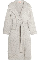 Missoni Home Rex Hooded Cotton Terry Robe Sand