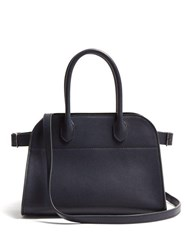 The Row Margaux Leather Bag Navy