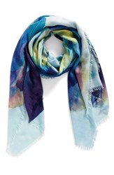 Nordstrom Women's Solar Floral Cashmere And Silk Scarf