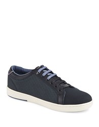 Ted Baker Ternur Round Toe Lace Up Sneakers Dark Blue