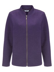 Dash Iris Quilt Zip Jacket Purple