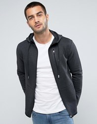 Only And Sons Zip Hoodie With Tech Pocket Details Gray