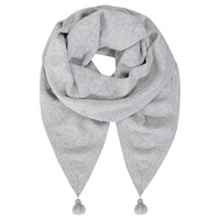 Mint Velvet Star Scarf Silver Grey