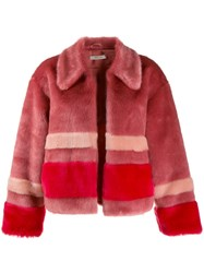 Three Floor Trinity Faux Fur Jacket Pink