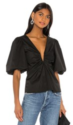 Amanda Uprichard Neveah Top In Black.