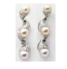Fabio Salini Earrings Vertigo With Pearl Diamonds Brown Diamonds White