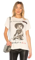 Madeworn Big Ready To Die Tee In Dirty White In Cream.
