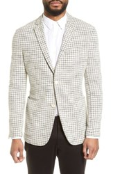 Vince Camuto Dell Aria Unconstructed Blazer Grey Cream Check Boucle