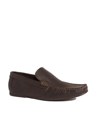 Base London Leather Loafers Brown