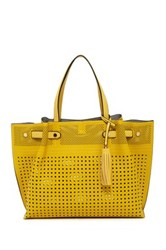 Urban Expressions Cadence Perforated Tote Bag Yellow