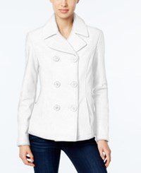Celebrity Pink Double Breasted Peacoat Ivory