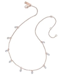Inc International Concepts Rose Gold Tone Crystal Station Necklace Only At Macy's