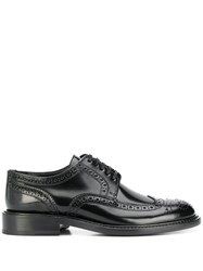 Saint Laurent Lace Up Leather Oxfords Black