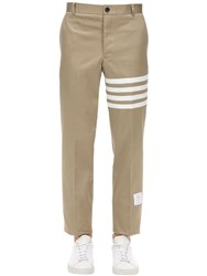 Thom Browne Cotton Twill Chino Pants Beige