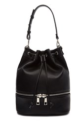 Forever 21 Drawstring Zippered Sling Backpack Black