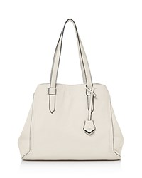 Botkier Thompson Leather Tote Ivory Silver