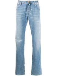Jacob Cohen Faded Distressed Jeans Blue
