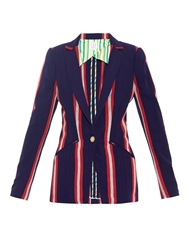 Stella Jean Gazza Striped Cotton Blazer