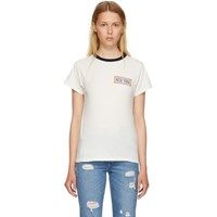 6397 White 'New York' Ringer T Shirt