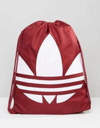 Adidas Originals Drawstring Backpack In Red Ay8702 Red
