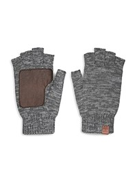 Bickley And Mitchell Knitted Fingerless Gloves Grey