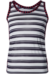 Harvey Faircloth Striped Tank Top White