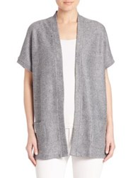 Saks Fifth Avenue Knit Open Front Cardigan Granite