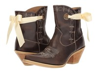Durango Crush 7 Ribbon Bootie Dark Brown Cowboy Boots