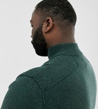 Only And Sons Knitted Jumper With High Neck In Green