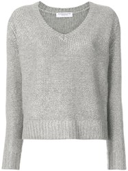 Majestic Filatures V Neck Sweater Cashmere Wool Iii Green