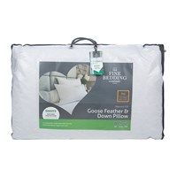 The Fine Bedding Company Goose Feather And Down Pillow Pair